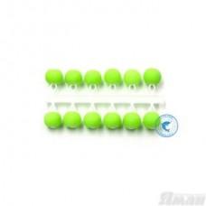 Бисер рыболовный Яман Шар 4мм. флюор. зеленый короткая подвеска 12шт. Я-МБ59