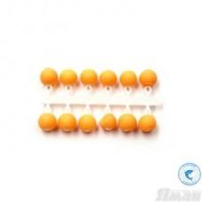 Бисер рыболовный Яман Шар 4мм. флюор оранжевый короткая подвеска 12шт. Я-МБ60