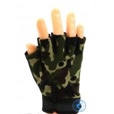 Перчатки Следопыт Туристические без пальцев цв.Хаки PF-GT-K04