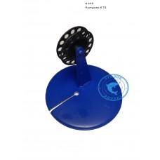 Жерлица синяя с черной катушкой 70мм d195