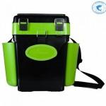 Ящик Helios FishBox 10л двухсекционный Зеленый