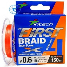 Плетеный шнур Intech First Braid PE4 orange 150м