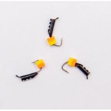 Мормышка Столбик Кубик двухцветный светонакопительный 2,2мм 0,5гр
