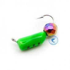 Мормышка Wormix Столбик шар Хамелеон зеленый d-2мм 0,5гр 475