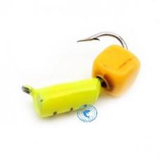 """Мормышка Wormix Столбик с """"Сырным кубиком"""" лимонный d-2мм 0,5гр 483"""