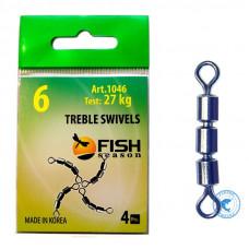 Вертлюг Fish Seasons тройной скоростной цилиндр 1046 1046