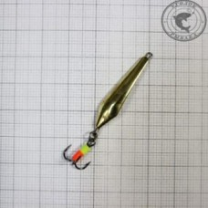 Блесна Емелины блесны Ноготок тройник 3,8гр 5см цвет золото