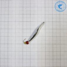 Блесна Емелины блесны Пиявка 1кр. с бисером 2,2гр 4см цвет серебро